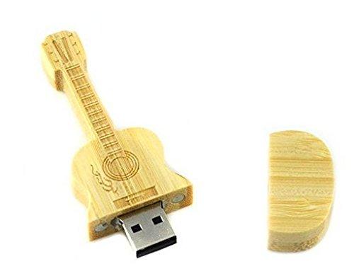 Acoustic Guitar Shape Wooden USB