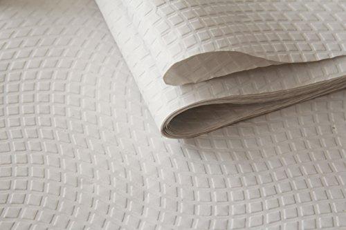 Satijnen tafelkleed, 60 x 60 cm, reliëf, 40 g, wit, 5 verpakkingen à 100 stuks