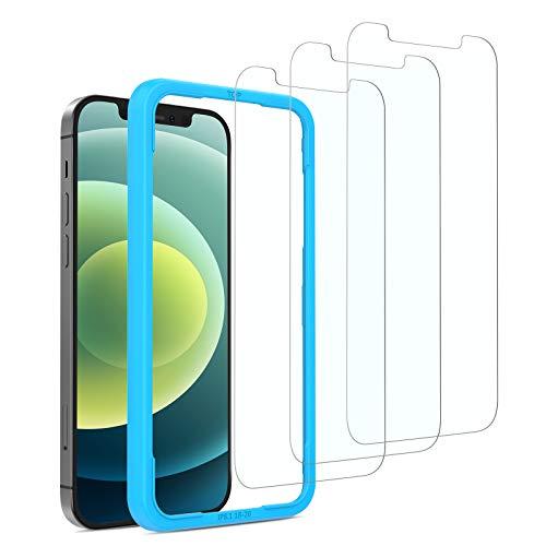 SPARIN 3 Pack Protector de Pantalla Compatible con iPhone 12 y iPhone...
