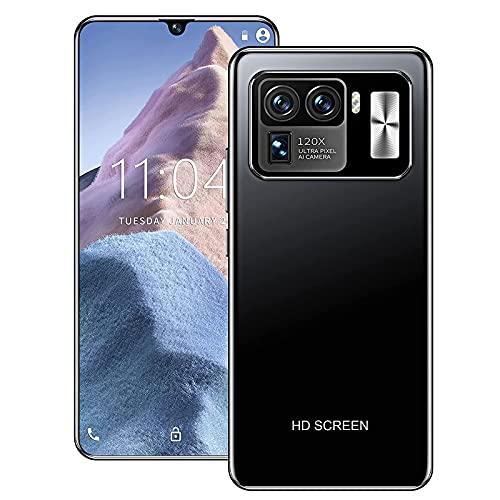 MUYEY Barato M11UTTRA Smartphone Smartphone Desbloqueo Super Smartphone 6800mAh 8GB + 258GB Teléfono Android 32MP Teléfono de reconocimiento de Huellas Dactilares,Negro