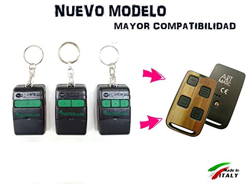 HR Multi 3 Mando DE Garaje Compatible Universal Compatible 100% CLEMSA MASTERCODE MV1 MV12 MV123