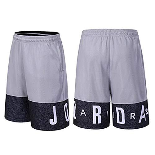 HEJX Basketball-Shorts Jordan Elite atmungsaktive und schnell trocknende Trainingsshorts für Männer und Frauen, Kinder Grey-3XL