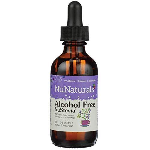 NuNaturals NuStevia Alcohol Free Liquid Stevia Drops Natural Liquid Sweetener, Sugar Free, 295 Servings