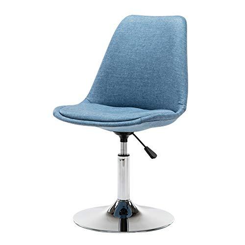 ZZHF Drehstuhl, Freizeitverhandlung Rückenlehne Stuhl - Barhocker Bürodrehstuhl mit Tellerfuß und höhenverstellbarem, 7 Farben (Farbe : B)