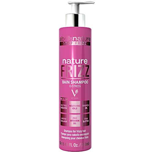abril et nature | Champú Anti Frizz NATURE FRIZZ | Champú Profesional de Peluquería Unisex Antiencrespamiento | 100% Vegano | Nutrición, brillo y fácil peinado - 250ml