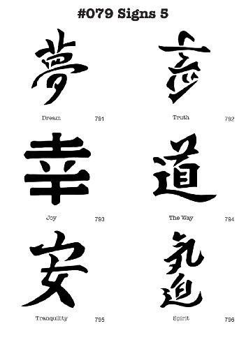 UNLIMITED STENCILS 6 Airbrush-Schablonen MYLAR #079 Chinesische Zeichen
