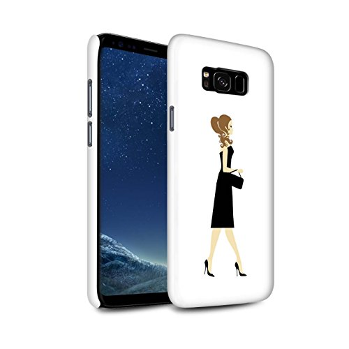 Stuff4® matte snap-on hoes/case voor Samsung Galaxy S8 Plus/G955/zwarte jurkjes Chic patroon/Sass/Frech collectie