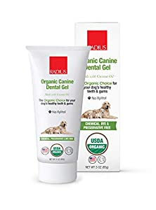 RADIUS USDA Organic Canine Pet Toothpaste 1 Unit, 3 oz | Non Toxic Toothpaste for Dogs | Designed to Clean Teeth and Help Prevent Tartar and Remove Plaque | Xylitol Free