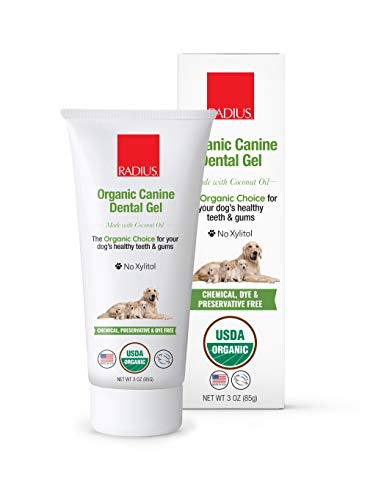 RADIUS USDA Organic Canine Pet Toothpaste 1 Unit, 3 oz, Non Toxic Toothpaste for Dogs, Designed to Clean Teeth and Help Prevent Tartar and Remove Plaque, Xylitol Free