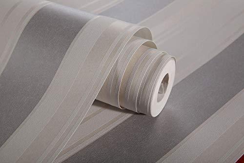 Papel Pintado Pared Moderno Plata Marca AdorabPaper