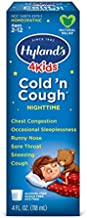 Cold Medicine for Kids Ages 2+ by Hylands, Cold and Cough 4 Kids Nighttime, Cough Syrup Medicine for Kids, Decongestant, Allergy and Common Cold Symptom Relief, 4 Fl Oz Each