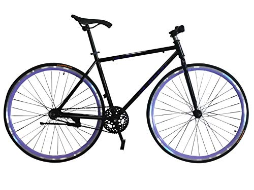 Helliot Bikes Fixie Tribeca H21, Bicicletta Singola velocit Unisex Adulto, Nero, Standard