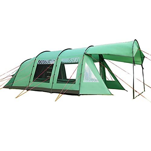 0℃ Outdoor Tienda de Campaña Familiar 4-8 Personas Impermeable 2000+ Mm a Prueba de UV con 4 Ventanas Vestíbulo y 2 Habitaciones para Camping Acampada Senderismo Senderismo Festivales