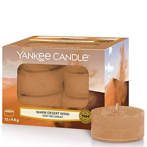 Yankee Candle candeline profumate tea light | Vento caldo del deserto | 12 pezzi