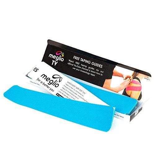 Meglio vorgeschnittenes Flatpack Kinesiologie Tape 5m x 5cm – Tapeverband – Sporttape für Muskeln – latexfrei