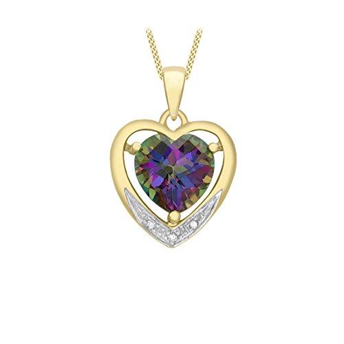 Carissima Gold Damen - Kette 9 k (375) Rundschliff Diamant 1.43.8744