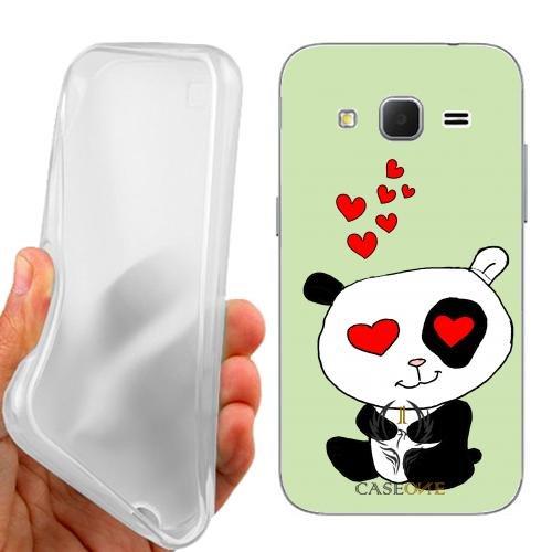 CASEONE Custodia Cover Case Love Panda per Samsung Galaxy Core Prime G360F G360H