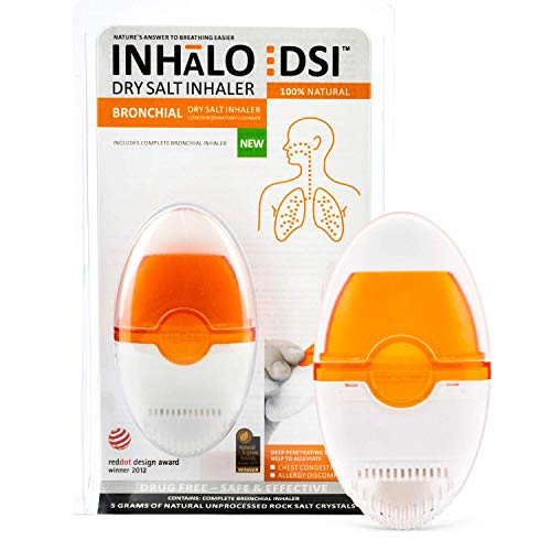 Inhalo DSI Dry Salt Bronchial Inhaler | Salt Therapy for Easy Breathing Even During Allergies |...