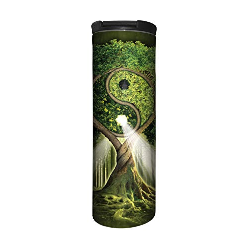 The Mountain Herren Yin Yang Tree Barista Reise-Kaffeebecher, Grün, 43,2 ml