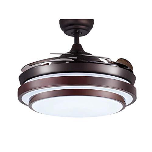Luz del ventilador Techo Invisible Control Remoto (Size : 42 Inch)
