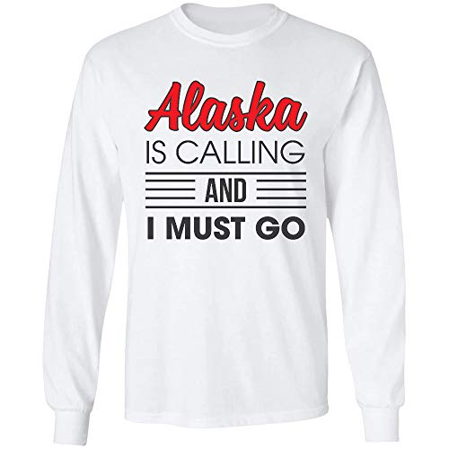 AZSTEEL My State Memories Mug Alaska is Calling I Must Go Long Sleeve.Gifts