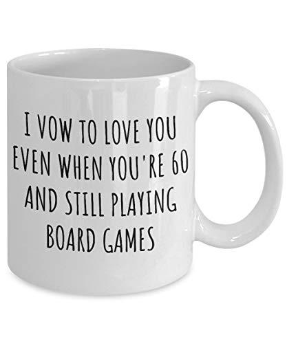 Zachrtroo bordspel beker grappig geschenk voor vriend-echtgenoot, waarvan ik wist, u te houden grappige spreekwoord-mok voor hem liefhebbers-speciale citaat-koffie-thee-schaal