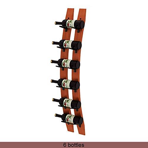 Botellero Armarios para vino Wall Mounted Wine Rack Barrel Stave Hanging Wooden Wine Rack Handcarved 5/6 Bottle Barrel Stave Wooden Wall Wine Rack Wine bottle holder Wine shelf wine cellar 102 / 112x