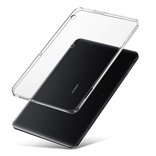 J&D Compatible para MediaPad T5 10 Inch Funda, [Cojín Delgado] [Parachoques Ligero] [Transparente] Resistente Tablet Clear Funda TPU Caucho Protectora para Huawei MediaPad T5 10 Inch Case Clear