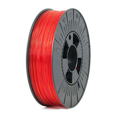 ICE FILAMENTS ICEFIL3ABSPLUS227 ABS + filament voor 3D-printers, 2,85 mm, 0,75 kg, transparant romantisch rood