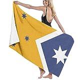Mengghy Azul Amarillo Bandera Australiana Impresión Toallas de Baño 32in52in Mejor Toalla de Baño Toallas de Playa para Mujeres, Baño Set Accesorios de Baño
