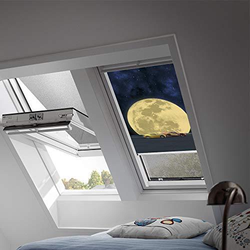Preisvergleich Produktbild VELUX Original Verdunkelungsrollo für Dachfenster mit weißen Seitenschienen,  MK04,  Cars Mond / DKL MK04 4651SWL