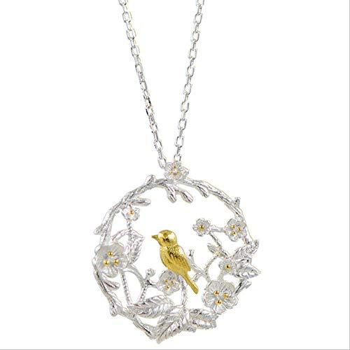 DUBIXIXINew producten 925 sterling zilver vogel klassieke creativiteit kettingen verloving bruiloft cadeau sieraden promoties
