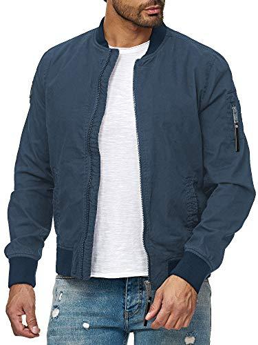 Redbridge Herren Jacke Übergangsjacke Bomberjacke Collegejacke Basic Blau XL