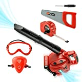 Toy Choi's Pretend Play Series Leaf Blower Toy Tool Play Set, Outside Construction Work Shop Toy...