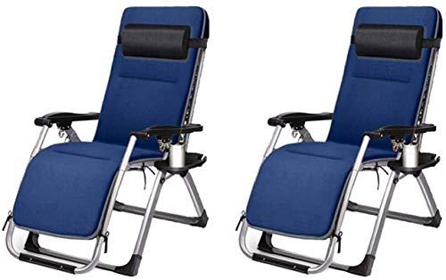 Sillón Sol Tounger Sillas de jardín plegables Conjunto de 2 tumbonas reclinables plegables, silla de jardín reclinable, cero gravedad oficina salón balcón casa ocio sol tumbona silla, siesta silla ple