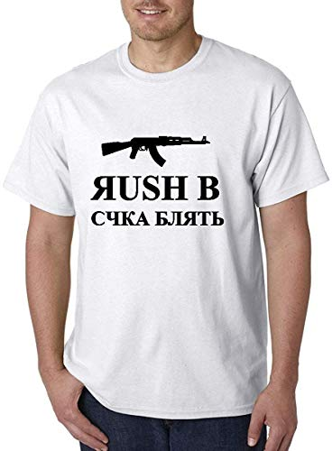 CS GO Counter Strike Rush B Cyka Blyat Novelty Grappige T Shirt Mens Casual T-shirt Zomer Fashion Tops Kleding Zwart