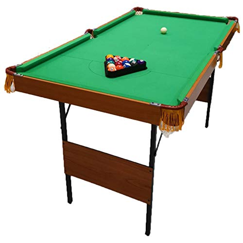 LIU WU FENG Billardtisch, amerikanischer Billard-amerikanischer großer Faltbarer Tischtennisplatte, Two-in-One-Multifunktions-Home Entertainment Billardtisch