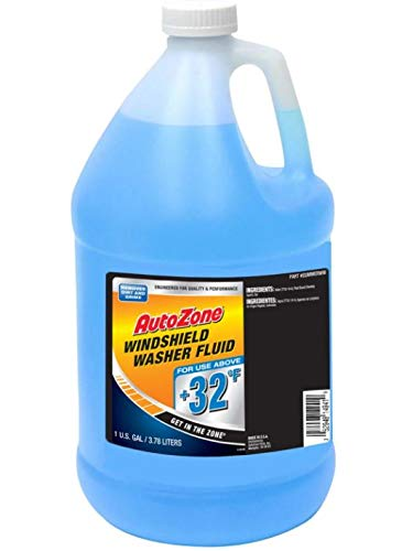 AutoZone Summer Windshield Washer Fluid, Removes dirt, Safe for the environment, Removes grime + 32°F, 1 Gallon