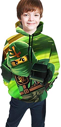Jugend Kapuzenpullover Jungen Mädchen Children's Hoodies Ninja-Go Hooded Sweatshirt Unisex Pocket Hooded Sweatshirts for Boys/Girls/Teen/Kid's