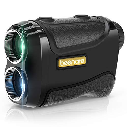 Beenate Laser Rangefinder for Golf & Hunting, Range Finder with Slope On/Off, Flag-Lock Vibration, 650 Yards Range, 6X Magnification - Golf Rangefinder Includes Battery & Carrying Pouch