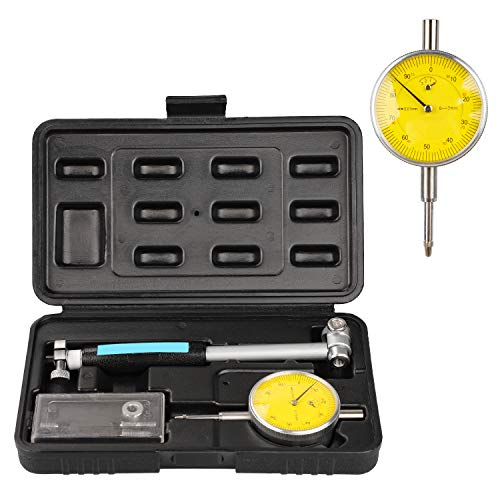 Bore Gage .0005' Gauge 35-50mm (1.4'-2' Range) Dial Bore Gauge Tools with Carbide Anvils Deep Engine Hole Cylinder Measurement