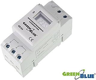 GreenBlue GB104 - Programador eléctrico digital diario semanal tipo carril DIN 16A 250V 240 programas (5)