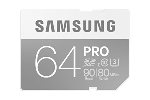 Samsung 64GB PRO Class 10 Full-Sized SDXC Card up to 90MB/s (MB-SG64E/AM)
