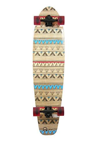 "Quest Native Spirit 40"""" Kick Tail Longboard Skateboard, 40-Inch, Multicolor (QT-GNK40C)"