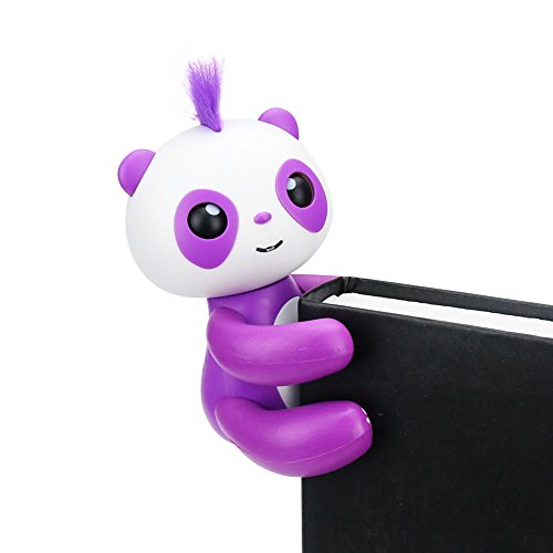 Daluo HAPPY PANDA - Finger Panda - Electronic Interactive Toy- Smart Pet Toys (Purple)