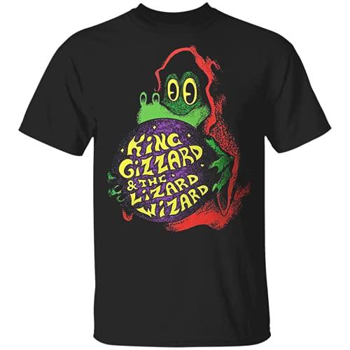 King Gizzard And The Lizard Wizard Mens Short Sleeve T-Shirt Black Cotton Tee Black XXL