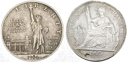 Estados Unidos Estatua de la Libertad 1905 Portador de la Antorcha Mon