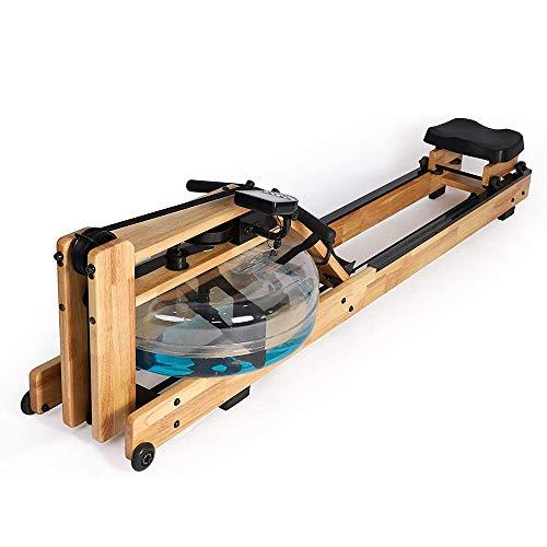 Rudergerät, Holz Wasserdicht Rudergerät Mit LCD-Display, Verstellbaren Fußstütze Und Sitzbank, Geeignet Für Zu Hause Fitness-Übung