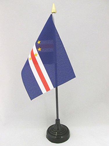 AZ FLAG TISCHFLAGGE KAP Verde 15x10cm goldene splitze - Republik Cabo Verde TISCHFAHNE 10 x 15 cm - flaggen