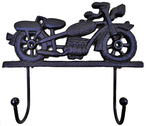 Perchero de pared para moto, 21 x 17 x 5 cm, metal, hierro fundido, toallero, figura decorativa F02